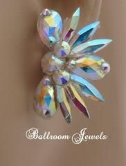 Triple pear Swarovski Crystal Ballroom earring - Earrings - Ballroom Jewels - 1