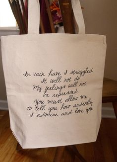 Mr Darcy Proposal Pride and Prejudice Tote bag by rachelwalter