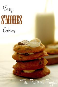 The Pinterest Project: Easy S'mores Cookies
