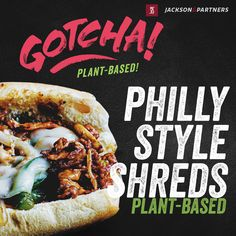 """Most Valuable Product - Gotcha Plant-Based Philly Style Shreds. Made with Plant-Based protein & with a flavor profile that is a favorite among Philadelphia natives and visitors alike. Gotcha Plant-Based Shreds will make you say, """"Yes, you did get me; I can't believe they are Plant-Based!"""" #plantbased #gotchashreds #sustanability jacksonandpartners.com Burger Recipes, Pork Recipes, Seafood Recipes, Philly Style, Steak Rubs, Homemade Burgers, Plant Based Protein, Philadelphia, Wings"""