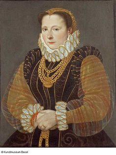 1580 Hans Bock the Elder - Portrait of Eva Steward of Rheinfelden