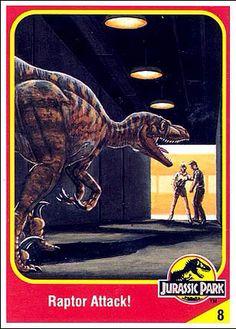 Jurassic World Trading Cards Jurassic Park Raptor, Jurassic Park Poster, Jurassic Park Trilogy, Jurassic Park 1993, Jurassic Park World, Prehistoric Wildlife, Prehistoric Creatures, Michael Crichton, Thriller
