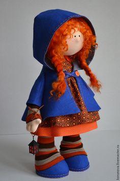 Купить Зажигаю звезды - фея, ведьмочка, ночное небо, звезды, шляпа, капюшон, интерьерная кукла