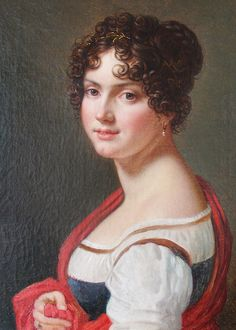 François-Xavier Fabre. Portrait of a Young Lady, 19th Century.