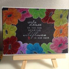 Unity Stamps, Prismacolor pencils, Colorbox ink