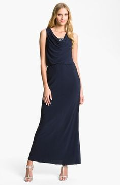 JS Boutique Embellished Cowl Neck Jersey Gown (Petite) available at #Nordstrom