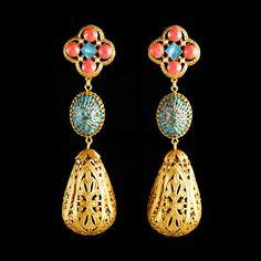 Askew London Large Filigree Peardrop Clip-on Earrings | Alexandra May Jewellery