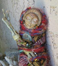 Rainbow Moon Gypsy Bohemian Art Doll Assemblage Art by awesomeart799 x 915 | 219KB | img0.etsystatic.com