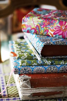 Pretty Liberty print book covers. Photograph Kristin Perers.
