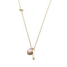 J.Crew women's bar charm necklace.