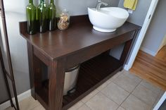 Farmhouse Vanity with Shelf | Do It Yourself Home Projects from Ana White