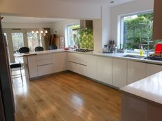 cream gloss kitchen with silestone - Google Search