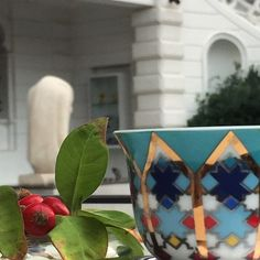 Because We deserve it...☕️️☕️️ Good Morning!✨✨✨  #monday #morning #mood #coffee #cup #coffeecup #coffeetime #favorite #garden #autumn #october #beirut #sursockmuseumresto #sursockmuseum #art #culture #joanna_s_table #arabesque #blue #red #gold #yellow #green #white #architecture #sculpture   Photo credit @linaezzedine  From #myhomemylebanon❤❤