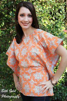 Miss Mod Top pattern, womens shirt, DIY shirt, top, halter top, Women's PDF sewing pattern - by Seamingly Smitten. $8.50, via Etsy.