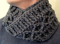 Chunky diamond infinity scarf, maybe use alpaca? Couple of nice scarf patterns on this site.