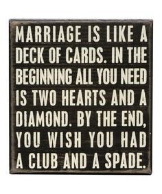 'Marriage' Box Sign