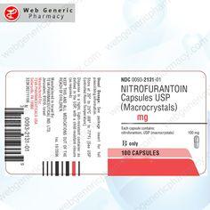 Nitrofurantoin (Macrodantin) 100mg 1 Pharmacy, Drugs, Apothecary