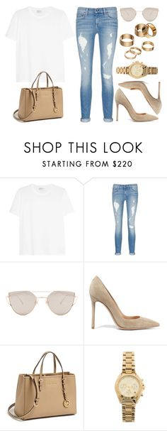 """Sin título #12932"" by vany-alvarado ❤ liked on Polyvore featuring Yves Saint Laurent, rag & bone/JEAN, Gentle Monster, Gianvito Rossi, MICHAEL Michael Kors, Michael Kors and Apt. 9"