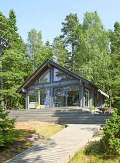 Prefab Cottages, Cabins And Cottages, Tiny House, Cottage Renovation, A Frame House, Modern Cottage, Lake Cabins, House Plans, Construction