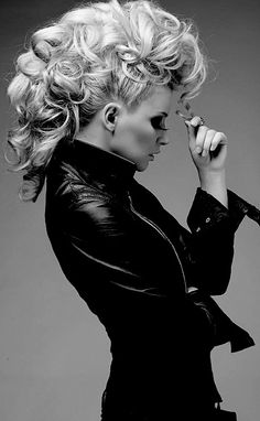 curly faux hawk--OMG....I WILL be do I need this do once my hair is long enough again. Rock it out!!!!