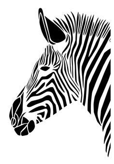 Zebra Art Print van GemmaBullenDesign op Etsy