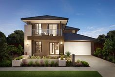 Browse the various new home designs and house plans on offer by Carlisle Homes across Melbourne and Victoria. Find a house plan for your needs and budget today! Brick House Designs, House Front Design, Small House Design, Modern House Design, Melbourne, Australia House, Style At Home, Carlisle Homes, Bedrooms