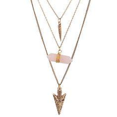 MJartoria Bronze Color Spike White Natural Stone Arrow Pendant Alloy Chain Irregular Multilayer Necklace MJartoria http://www.amazon.com/dp/B0146MC3JS/ref=cm_sw_r_pi_dp_4AS1vb17AT0C6