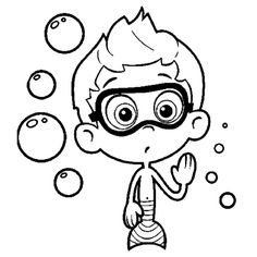 Coloring pages based on cartoons are very popular with younger kids. Check 10 free printable Bubble Guppies coloring pages to improve their artistic skills. Nick Jr Coloring Pages, Summer Coloring Pages, Quote Coloring Pages, Coloring Books, Colouring, Bubble Guppies Characters, Bubble Guppies Coloring Pages, Bubble Guppies Birthday, Video Clips