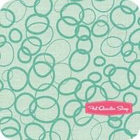In the Ocean Teal Bubbles Yardage SKU# C4114-TEAL