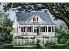 Cottage House Plan with 1738 Square Feet and 3 Bedrooms from Dream Home Source | House Plan Code DHSW68492