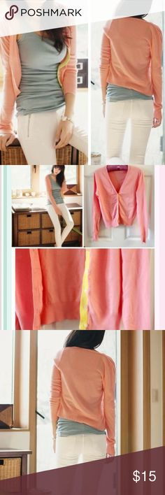 Pink cardigan Material: cotton. Size S. NWOT Sweaters Cardigans