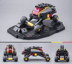 Milan Sekiz has seen a rover and he wants it painted it black. No colours anymore, apart from black, yellow and trans-red are in this series of builds. It also includes a bike, spaceships and a cou…