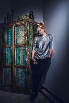 Metallic details and sparkle are Sarah Fanning's sartorial guilty pleasures. Read more: http://elanstreet.com/blog/cat/closet-confidential/post/closetconfidential_sarafanning/