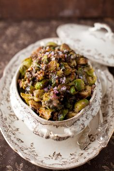 Roasted Brussels Sprouts with Capers, Walnuts and Anchovies -  We plan to use STAR capers and STAR anchovies