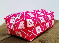 Pink Floral Makeup Bag