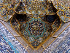 'This cannot be solved with plane geometry, since it has a cube in it. For the solution we need conic sections.' —Omar Khayyam (who not only not only put his toes into non-Euclidean waters, he is also given credit by some art historians for the design of the North Dome chamber of Esfahan's Friday Mosque, built in 1088.)