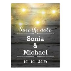 Save the date rustic weatherboards postcard - rustic country gifts style ideas diy