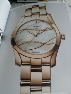 Tissot new collection #watches #rosegold #mother-of-pearl
