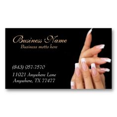 15 Best Nail Salon Business Cards Images Business Card Design