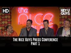 The Nice Guys Press Conference Part 1 - Russell Crowe & Matt Bomer - YouTube