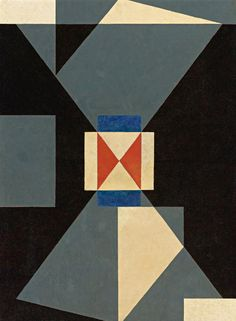 Charles Frederic Ramsey, Pinpoint Abstraction, c. 1940. via Sotheby's