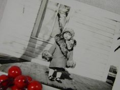 Precious Photograph of Little Girl In A Fancy by GreenGablesLane