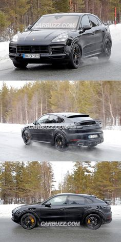 Listen To The Awesome Sound Of The Hardcore Porsche Cayenne Coupe GT. We managed to spy the new Porsche Cayenne Coupe GT on the move. Porsche Suv, New Porsche, Porsche Cayenne Gts, Black Audi, Cayenne Turbo, Jeep Suv, Bmw X6, Best Luxury Cars, Twin Turbo