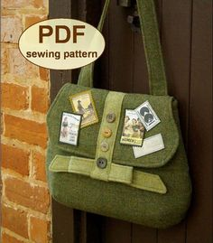 Sewing pattern to make the Land Army Bag  PDF by charliesaunt, $8.00