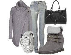 Casual outfit grey and black
