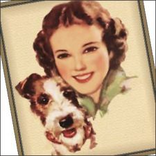vintage pictures girl and terrier - Google Search