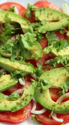 Simple Avocado and Tomato Salad - My *favorite* thing to throw together after a long day at work.