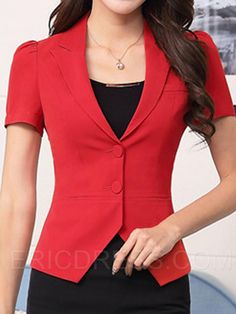 Maybe a red blazer? Office Fashion, Work Fashion, Red Blazer, Professional Look, Work Tops, Skirt Outfits, African Fashion, Cute Dresses, Style Me