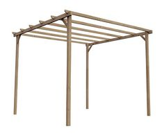 prgola de 3 x 3 m madeira - Pergola Madera