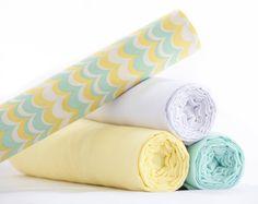 Muslin Swaddle Set - True French Muslin - Baby Shower Gift - USA Made - (SEAFOAM)
